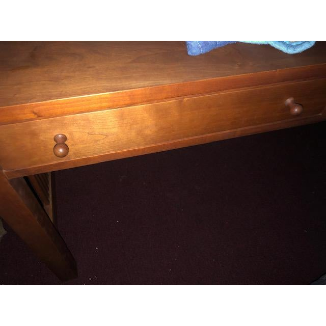 Wood Stickley Mission Collection Writing Desk For Sale - Image 7 of 10