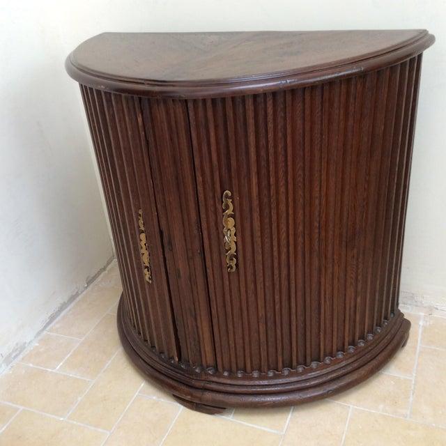 Rustic Primitive Demilune Cabinet For Sale - Image 5 of 10
