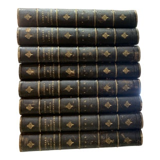 Late 19th Century Library of Choice Literature Books - Set of 8 For Sale