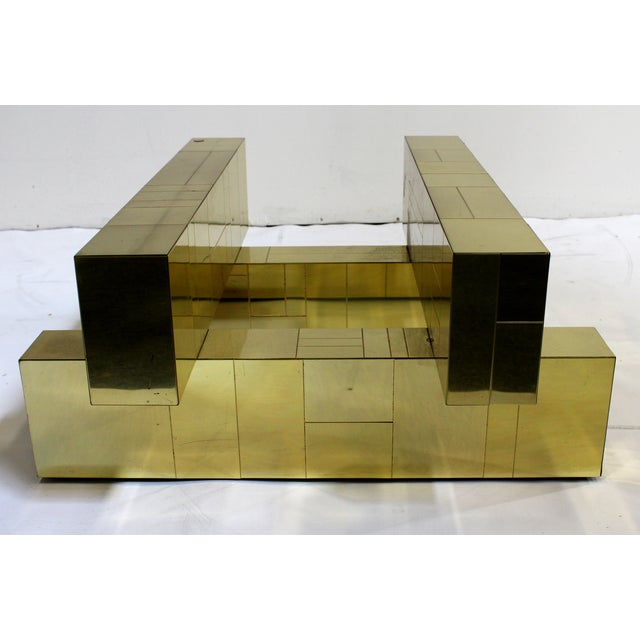 """Paul Evans Brass """"Cityscape"""" Coffee Table - Signed - Image 7 of 7"""