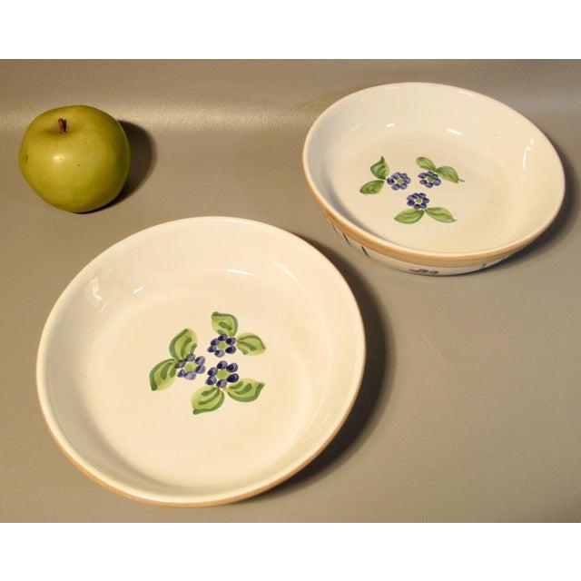 1989 Mesa International Fruit Bouquet Blueberries Serving Bowls - a Pair
