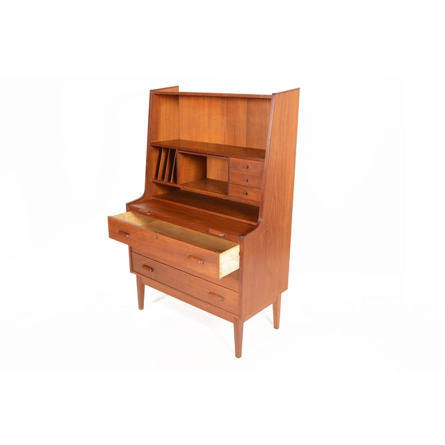 Danish Modern Secretary With Bookcase in Teak - Image 3 of 9