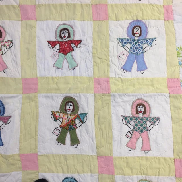 Handmade Folk Art Quilt - Image 4 of 6