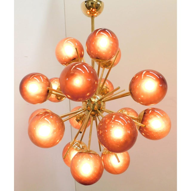 Italian Diciotto Sputnik Chandelier by Fabio Ltd For Sale - Image 3 of 10