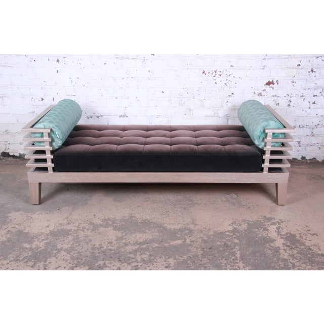 """A unique modern """"chocolate"""" daybed designed by Adriana Hoyos. Inspired by chocolate bars, this sculptural piece emerges as..."""