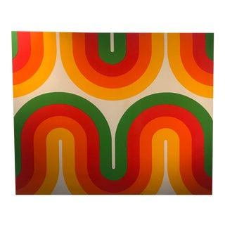 "1970's Vintage Verner Panton Pop Art ""Spectrum Range"" Fabric Wall Hanging For Sale"