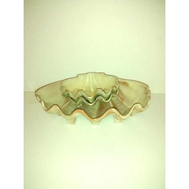 Mid-Century Modern Mid-Century Frankoma Clam Shell Bowls Tiki For Sale - Image 3 of 6