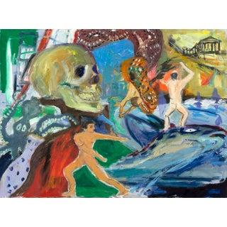 Regina Gately Greek Inspired Painting For Sale