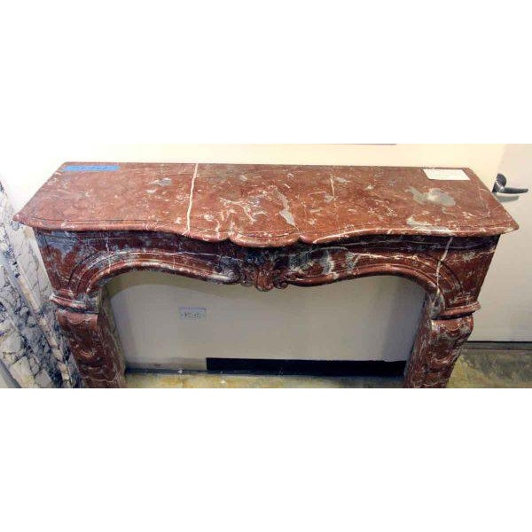 Louis XV Style Marble Mantel For Sale - Image 6 of 6