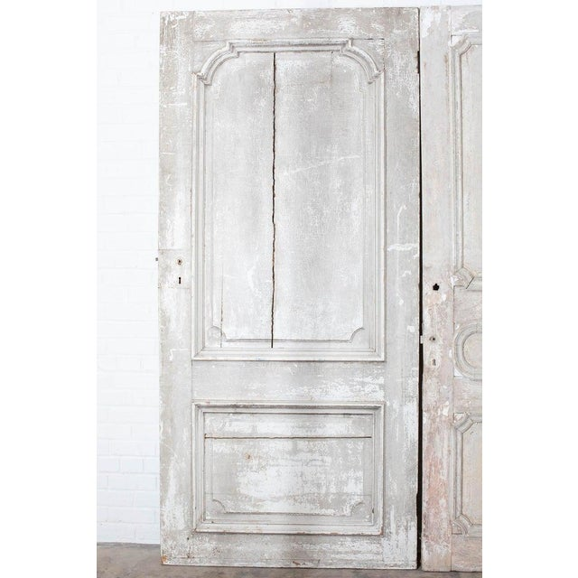 Late 19th Century Rustic Pair of 19th Century French Painted Panel Doors For Sale - Image 5 of 13