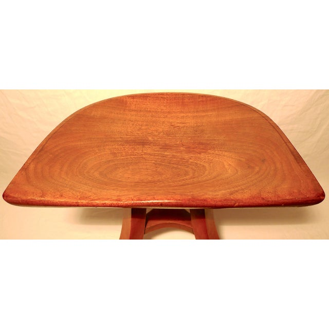 Brown Vintage Early 20th Century Sculpted Ash Tripod Saddle Stool For Sale - Image 8 of 12