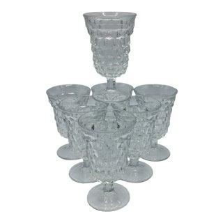 American Clear Fostoria Low Water Goblet - Set of 7 For Sale