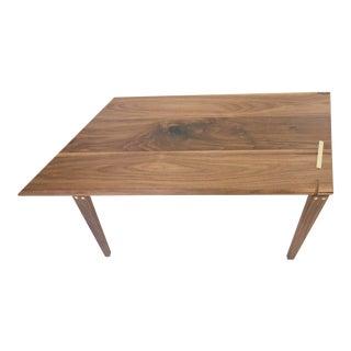 Minimalist Solid Walnut Geometric Coffee Table For Sale