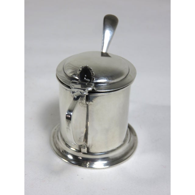Victorian 1900s Victorian Sterling Silver Mustard Pot For Sale - Image 3 of 8