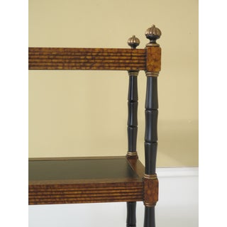 Lillian August Regency Style Leather Top Tiered Bookshelf Preview