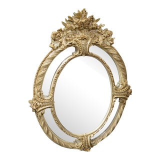 Ornate Roma Italian Oval Wall Mirror