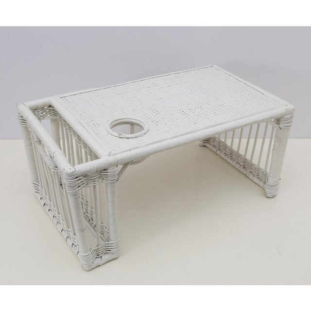 The perfect Sunday morning accessory! This is a nice sturdy older woven wicker serving tray for breakfast in bed or TV...