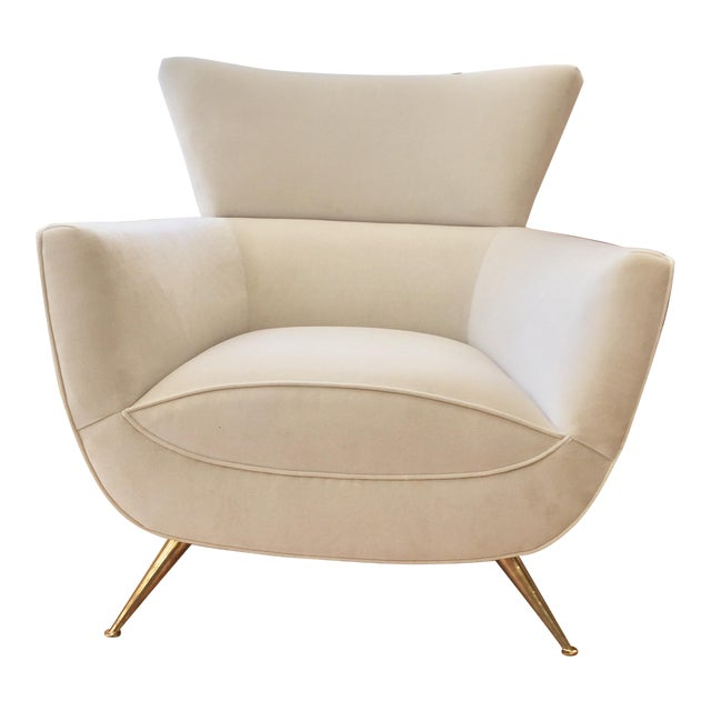 1950s Mid-Century Modern Henry Glass Lounge Armchair For Sale