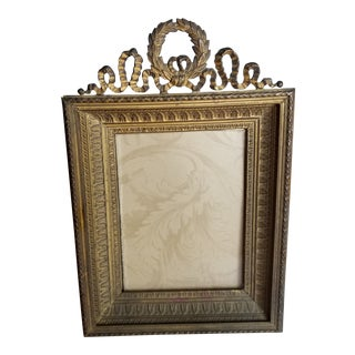 Antique Bronze Picture Frame For Sale