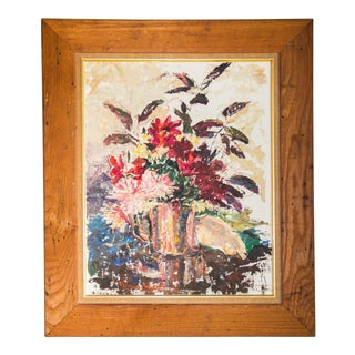 Florence Tricker Original Floral Painting For Sale