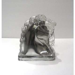 Mid-Century Silver Horse Head Bookend Preview