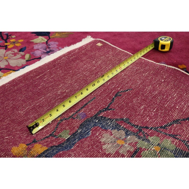 1920s 1920s Antique Chinese Art Deco Rug - 8′10″ × 11′7″ For Sale - Image 5 of 10