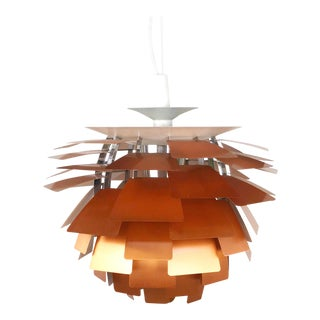 Poul Henningsen - Louis Poulsen Artichoke Chandelier by Louis Poulsen in Copper For Sale