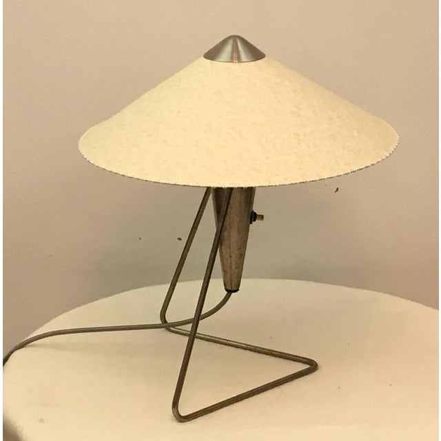 Czech Modernist Table Lamp by Helena Frantova for Okolo, 1950s For Sale - Image 10 of 11