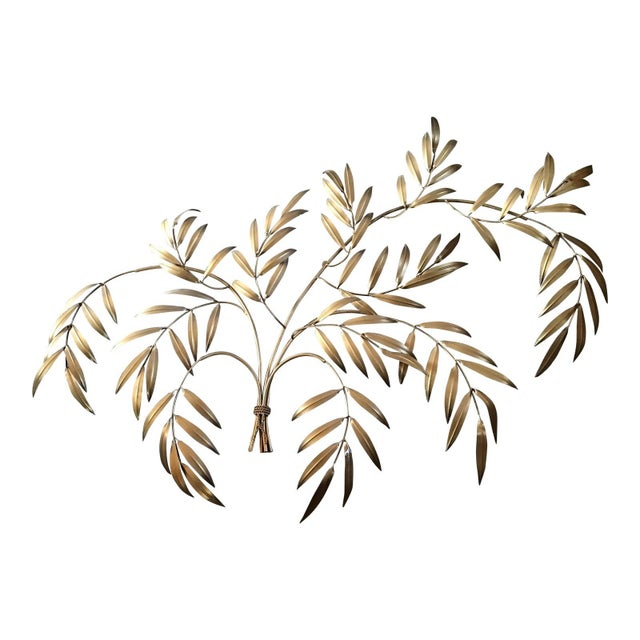 Italian French Wheat Sheaf Wall Sculpture, Italy Last Markdown For Sale