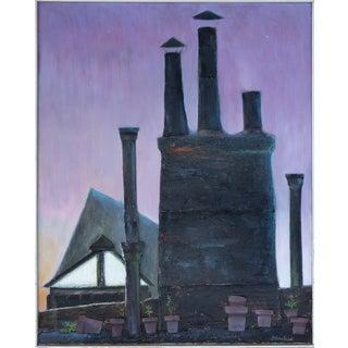 Robert Blanchard Mid-century Mixed Media Painting