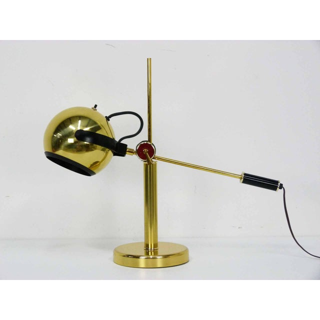Brass Orb Ball Articulating Desk Lamp - Image 5 of 9