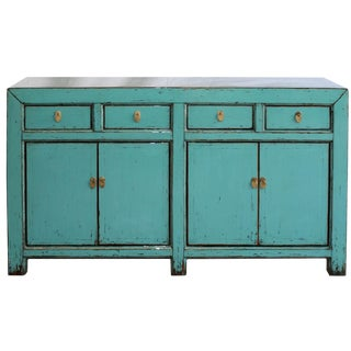 Contemporary Light Blue Sideboard For Sale