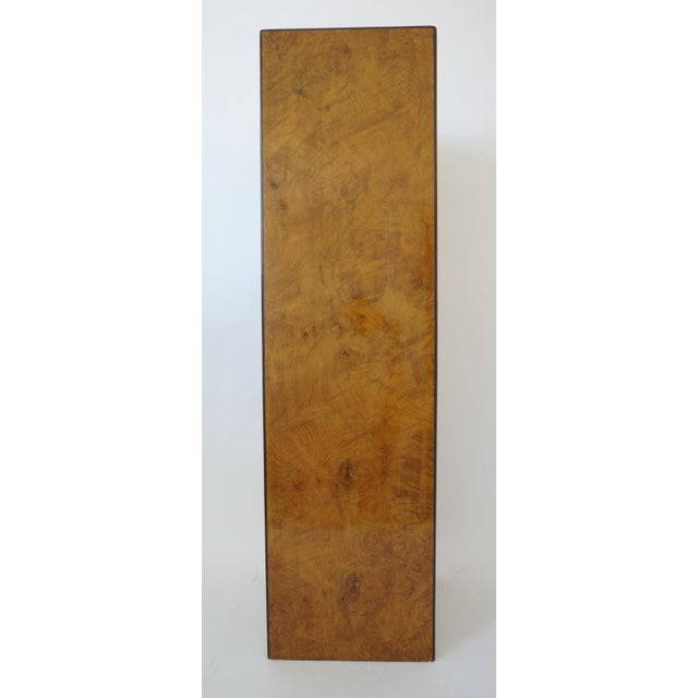 Mid-Century Modern Drexel Heritage Furniture Pedestal Burlwood Veneers For Sale - Image 10 of 10