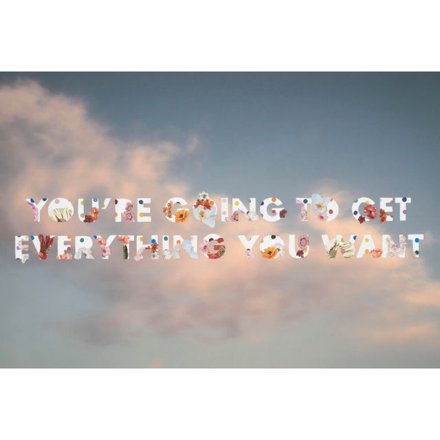 You're Going to Get Everything by Emily Hoerdemann, Text Cutout Collage Series For Sale