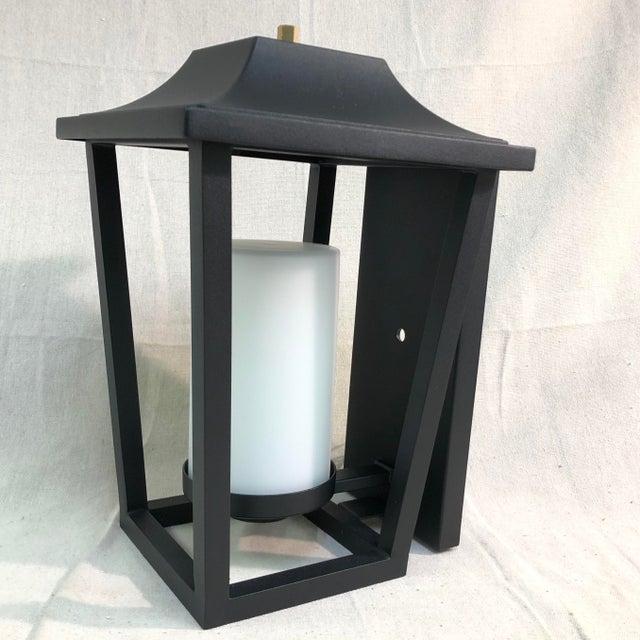 Hinkley Lighting Sullivan Outdoor Black Lantern Wall Sconce For Sale In Washington DC - Image 6 of 13