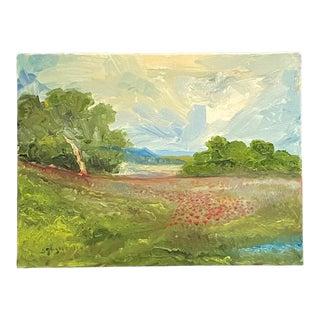Poppy Fields Landscape Oil Painting For Sale