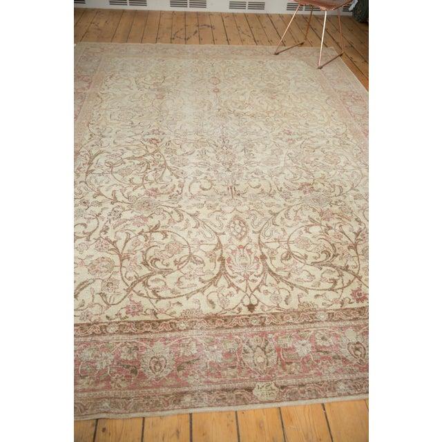 "Vintage Distressed Sivas Carpet - 8' x 10'10"" For Sale - Image 9 of 11"