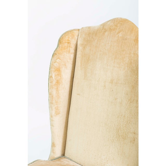 French Provincial Style Winged Slipper Chairs - A Pair - Image 6 of 8