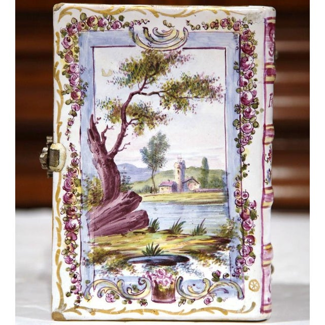 French Book Shaped Porcelain Jewelry Box For Sale In Dallas - Image 6 of 9
