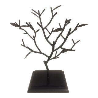 Sculptural Metal Tree Figurine For Sale