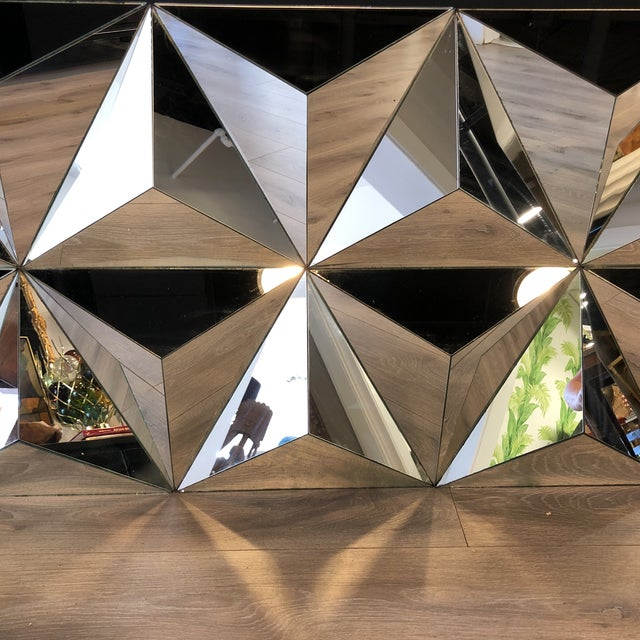 Contemporary Multi Faceted Pyramid Mirror For Sale - Image 3 of 5