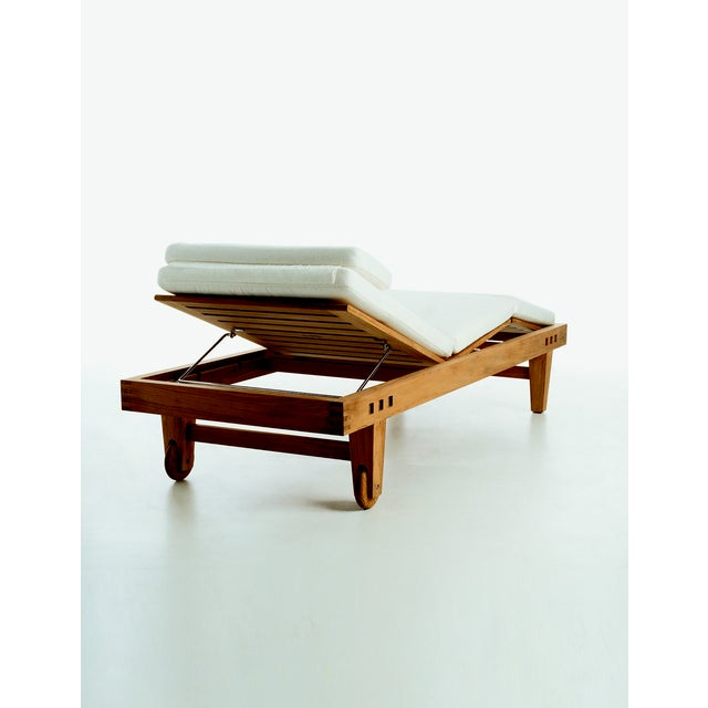 Contemporary Summit Furniture Trestle Adjustable Chaise For Sale - Image 3 of 3