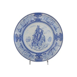 Antique Mason's Ironstone Sailing Wall Plate For Sale