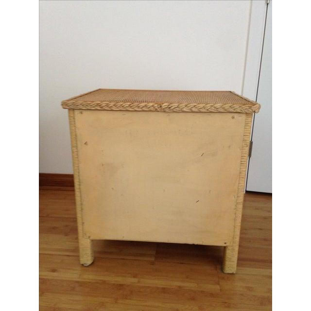 Vintage Wicker Henry Link Nightstand - Image 5 of 8