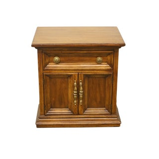 "20th Century Italian Drexel Heritage Vanessa Collection 24"" Cabinet Nightstand For Sale"