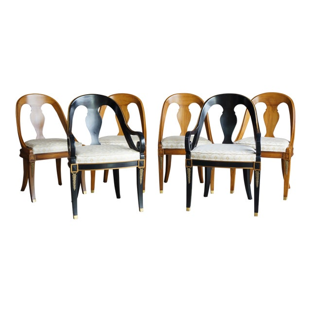 Karges Neoclassical Dining Chairs - Set of 6 For Sale
