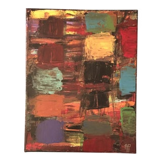 Abstract Color Field Acrylic on Canvas For Sale