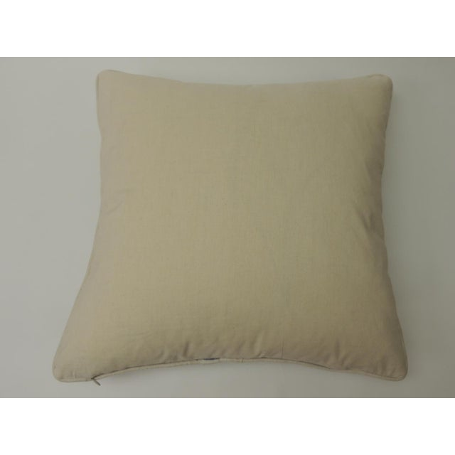 """Indian Quilted """"Lotus"""" Decorative Pillows For Sale - Image 4 of 6"""