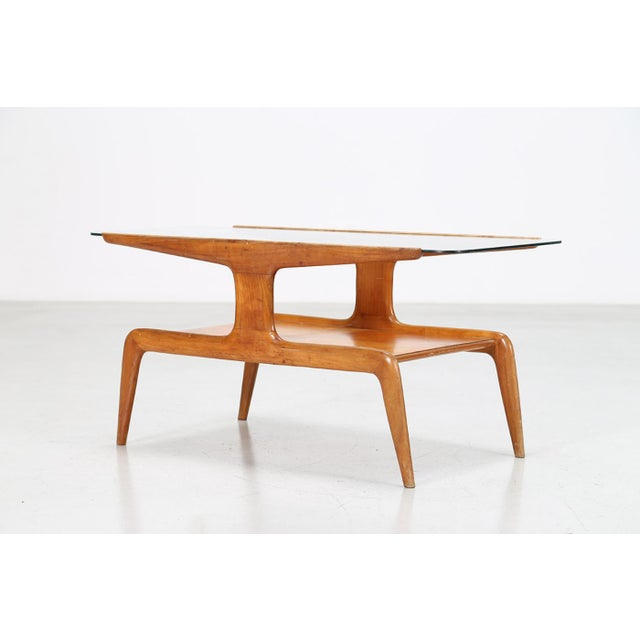 Gio Ponti Gio Ponti Coffee Table in Ash and Glass Top For Sale - Image 4 of 9