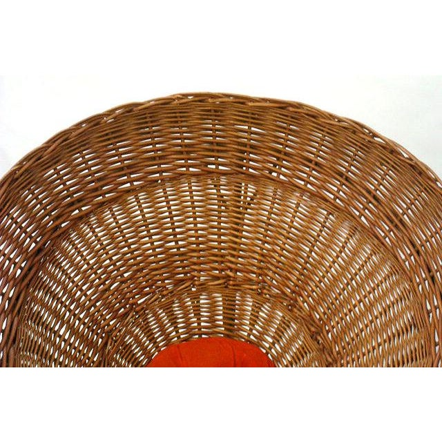 Sunflower Woven Wicker Cone Basket Lounge Chair by Roberto Mango for Tecno For Sale In New York - Image 6 of 6